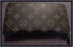 Louis Vuitton Monogram Black Zip Around Long Wallet For Women