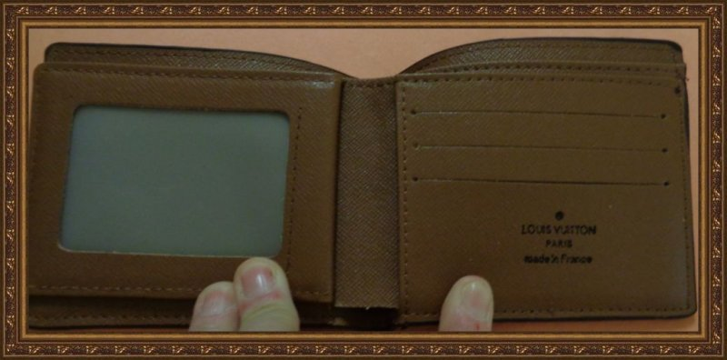 Image 2 of Brown Leather Luxury Bi-Fold Wallet For Men Classy Style