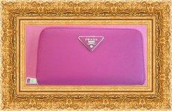 Fuchsia Pink Long Leather Zippy Wallet For Women Luxury Classy Style