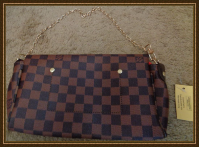 Image 1 of Brown Leather Luxury Classy Shoulder Handbag For Women With Gold Tone Finish