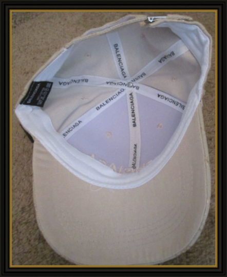 Image 1 of Beige Luxury Classy Baseball Hat/Cap Unisex Adjustable To Fit Most