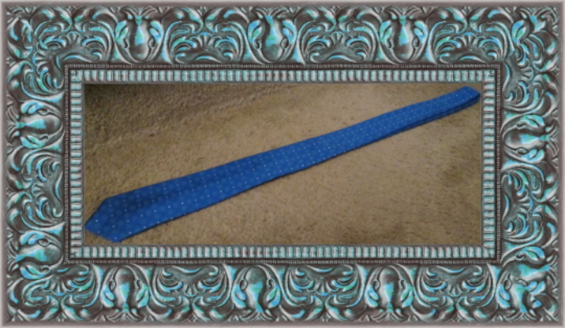 Image 1 of 100% Silk Luxury Style Necktie For Men Blue White & Black In Color