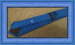 100% Silk Luxury Style Necktie For Men Blue White & Black In Color
