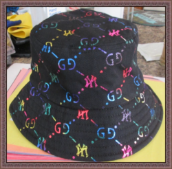 Black/Multicolored Bucket Hat For Women Classy Style