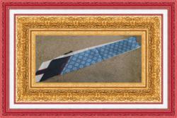 Blue Red & White Purse Scarf Luxury Classy Style 100% Silk