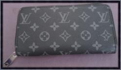 Black & Gray Long Leather Zippy Luxury Classy Wallet For Women