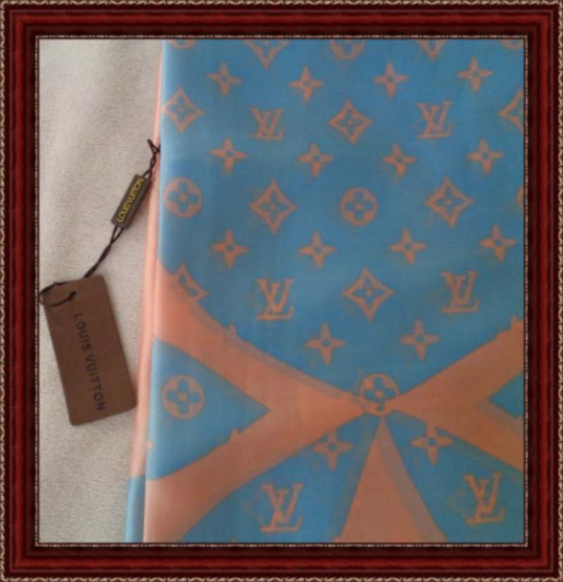 Image 0 of Pink & Blue In Color Luxury Style Scarf Classy And Elegant