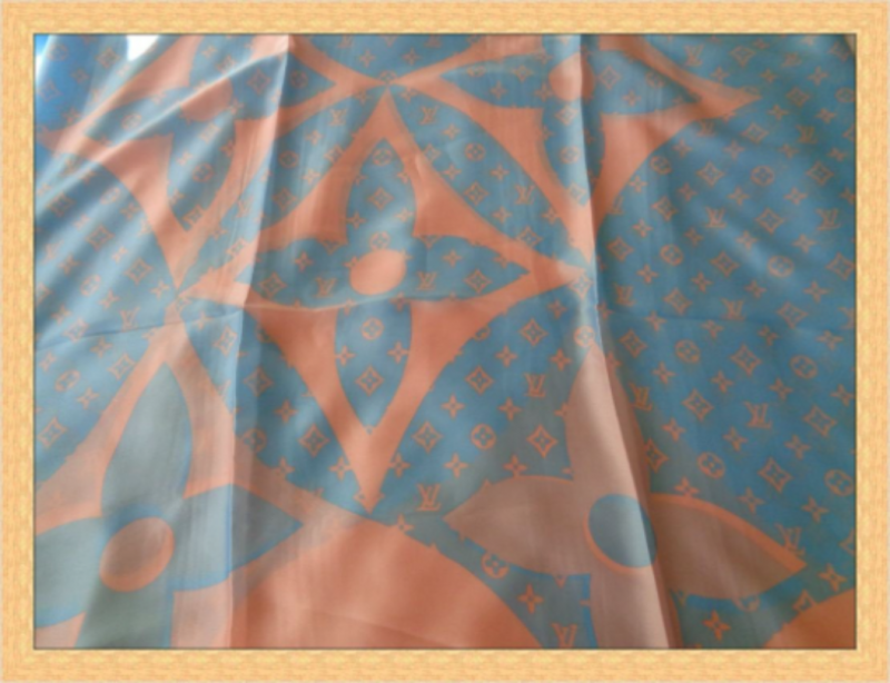 Image 1 of Pink & Blue In Color Luxury Style Scarf Classy And Elegant