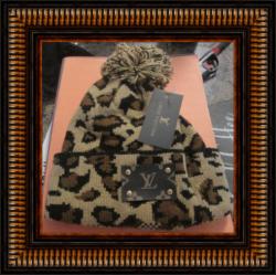 Leopard Print Design Beanie Hat POM POM Style For Women Classy