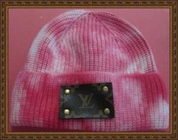 Pink & White Tye Dye Design Beanie Hat For Girls (Kids) Luxury Classy