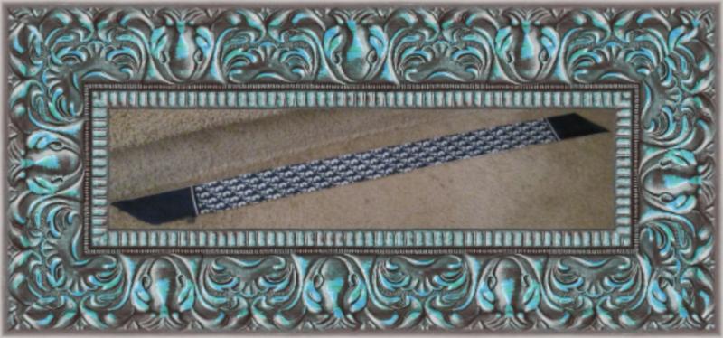 Image 1 of White & Blue Luxury Classy Purse Scarf