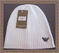 White In Color Classy Luxury Beanie Hat For Little Boys