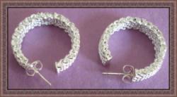 925 Sterling Silver Hoop Design Earrings Luxury Classy Style