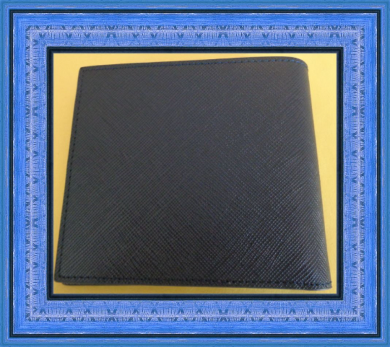 Image 1 of Gray Blue & Yellow In Color Leather Luxury Classy Bifold Wallet