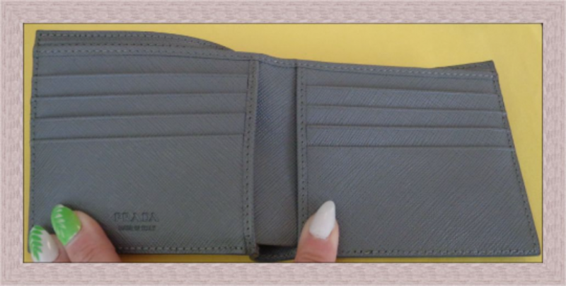 Image 2 of Gray Blue & Yellow In Color Leather Luxury Classy Bifold Wallet