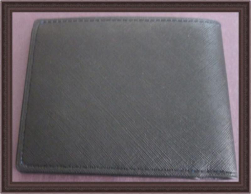 Image 1 of White/Black Evil Eye Design Black Leather Classy Luxury Bifold Wallet For Men