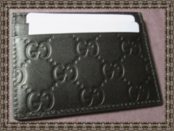 Black Leather Business Card Holder For Men Luxury Style