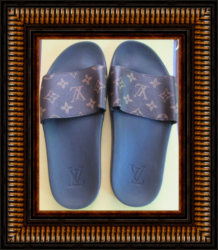 Brown & Black Pool Slides For Teens Or Women Size 7.5 Luxury Classy Style