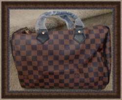 Brown Checkered Leather Luxury Classy Messenger Style Handbag For Women