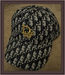 Black Dark Blue Gray Baseball Hat Cap With Gold Tone Finish For Women Classy