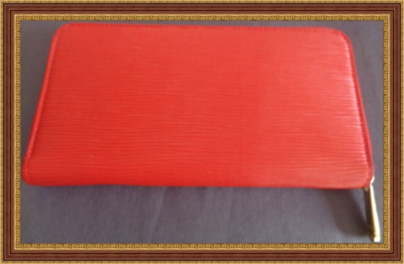 Image 1 of Red Leather Long Zippy Wallet For Women Classy Luxury With Gold Tone Finish