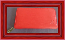 Red Leather Long Zippy Wallet For Women Classy Luxury With Gold Tone Finish