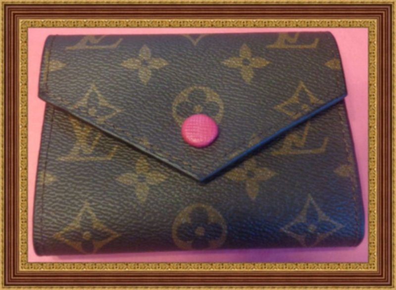 Image 0 of Brown & Plum Red Small Leather Luxury Classy Wallet For Teens Or Women