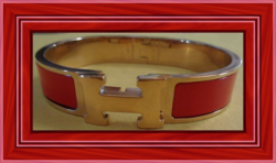 Gold Tone & Red Luxury Style Bracelet For Women Very Classy