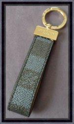 Black & Gray Checkered Leather Luxury Classy Keychain Unisex
