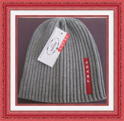 Gray Red & White Beanie Hat For Kids Unisex Classy Luxury Style