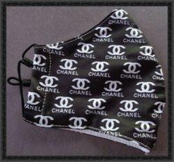 Black & White Luxury Classy Mask Adjustable For Women Handmade