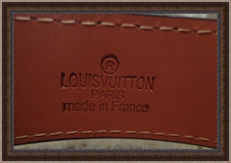 Image 1 of Brown Leather Monogram Luxury Classy Belt Unisex Size 46/115 Black Tone Finish