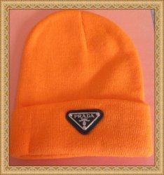 Orange Beanie Hat Unisex