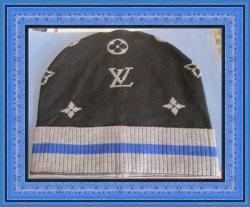 Black Gray & Blue Beanie Hat For Men
