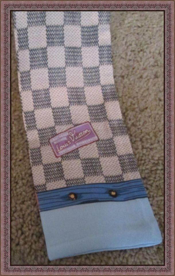Image 2 of Colorful/Checkered Purse Scarf For Women 100% Silk