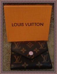 Brown & Pink Short Wallet For Women