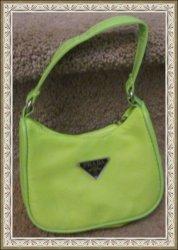 Lime Green Nylon Handbag For Girls (Kids)