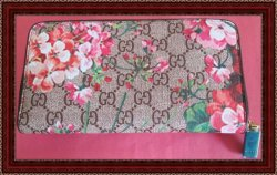 Flower/Floral Design Long Zippy Wallet For Women