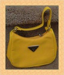 Sunshine Yellow Nylon Small Handbag For Kids (Girls)