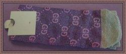 Sparkle Silver & Purple Socks Fits Most One Size