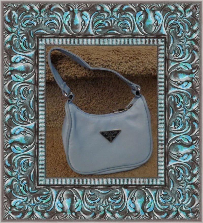 Image 0 of Blue Nylon Small Handbag For Kids (Girls)