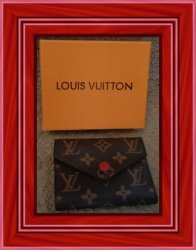 Brown & Red Short Wallet For Women