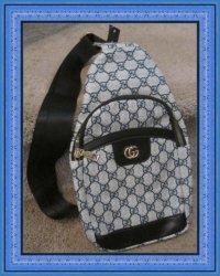 Blue Black & Gray Sling Bag Unisex