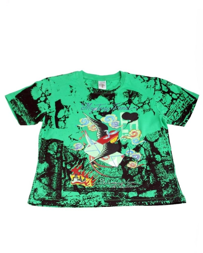 Image 0 of Ed Hardy Boys' Mystery Sparrow on A Mission Tee Shirt Green