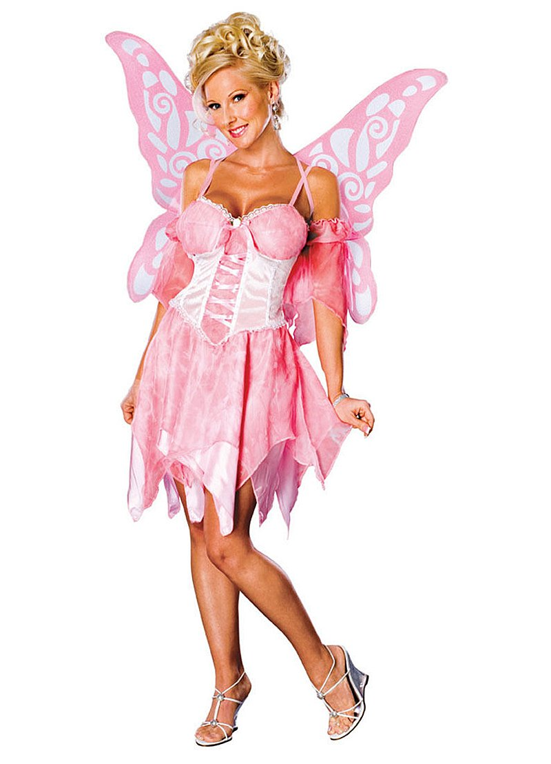 Image 0 of Secret Wishes Sugar Plum Fairy Costume With Wings, Pink, Medium (6/10)