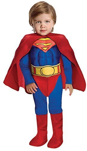 Image 1 of Super DC Heroes Deluxe Muscle Chest Superman Costume, Child's 882626d's