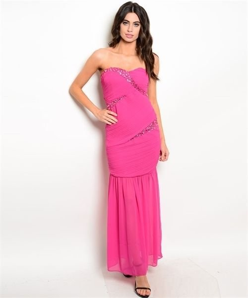 Image 3 of Strapless Sexy Jrs Mermaid Party Evening Full Length Dress, Black
