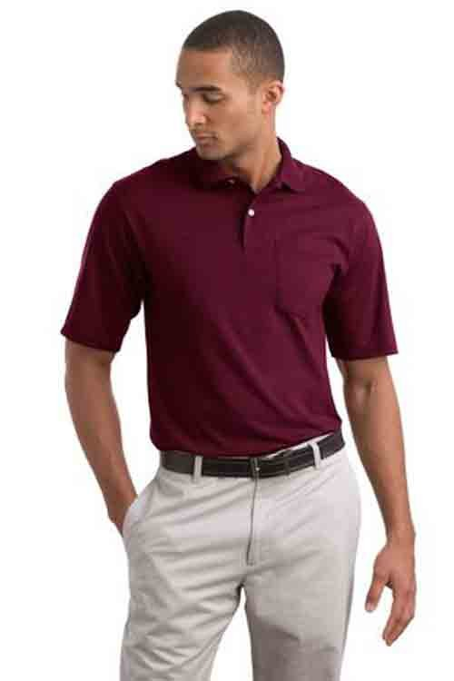 Image 2 of Pocket Polo Golf Shirt Jerzees 436MP, Adult, Hot Sports Colors, Cotton Blend - B