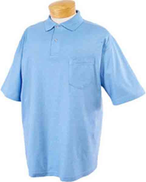 Image 5 of Pocket Polo Golf Shirt Jerzees 436MP, Adult, Hot Sports Colors, Cotton Blend - B