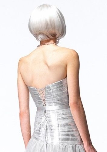 Image 1 of Sexy Strapless Alyce Prom Evening Corset Gown Dress, Sizzling Silver or Gold - G